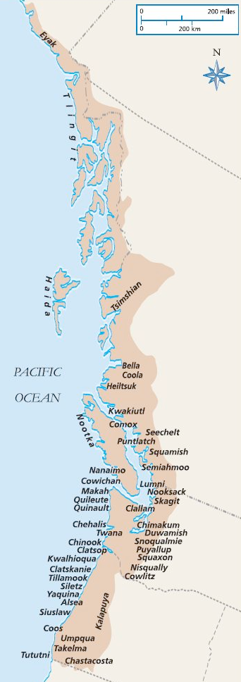 PACIFIC NORTHWEST COAST TOPOGRAPHY