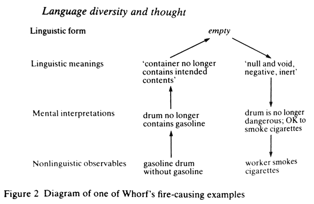 the sapir-whorf thesis states that
