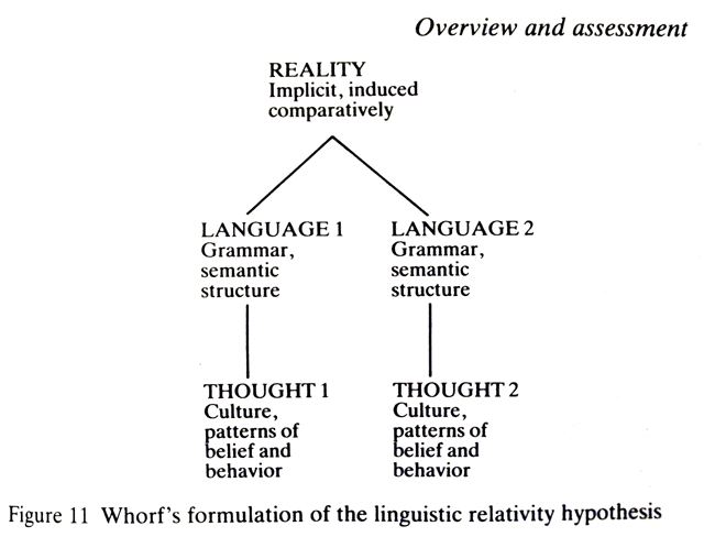 the linguistic relativity hypothesis Linguistic relativity in warning intelligence who argue for cross-linguistic variances in cognition and those who view language sapir-whorf hypothesis.
